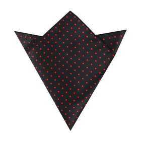 Black with Red Polka Dots Pocket Square