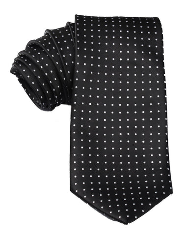 Black with Small White Polka Dots Tie