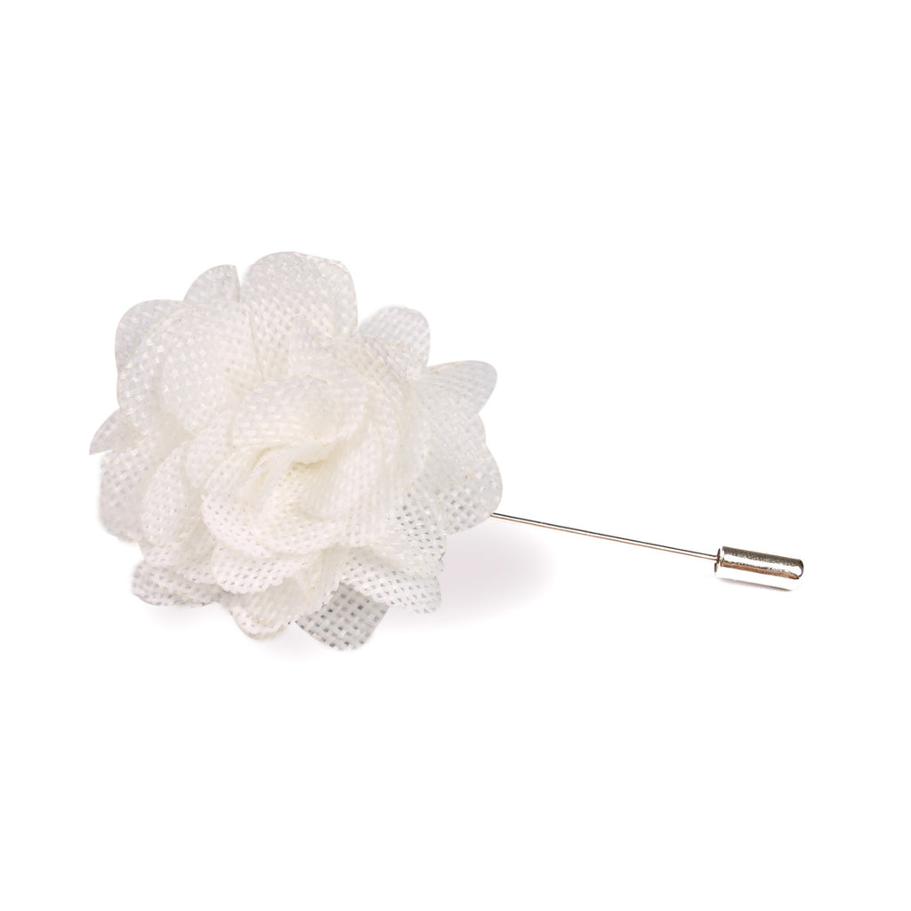 Blanc White Lapel Flower