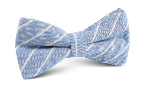 Blue Barney Pin Stripe Linen Bow Tie