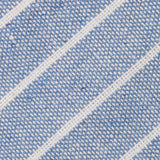 Blue Barney Pin Stripe Linen Fabric Kids Diamond Bow Tie