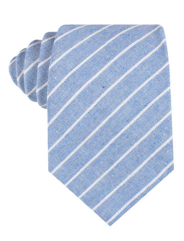 Blue Barney Pin Stripe Linen Tie