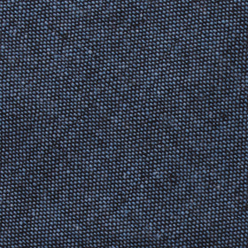 Blue & Black Textured Linen Blend Pocket Square