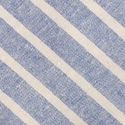 Blue Bodrum Linen Chalk Stripe Kids Diamond Bow Tie