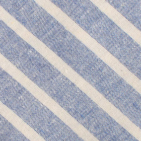 Blue Bodrum Linen Chalk Stripe Pocket Square