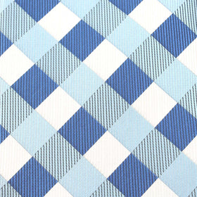 Sea and Light Blue White Checkered Bow Tie OTAA
