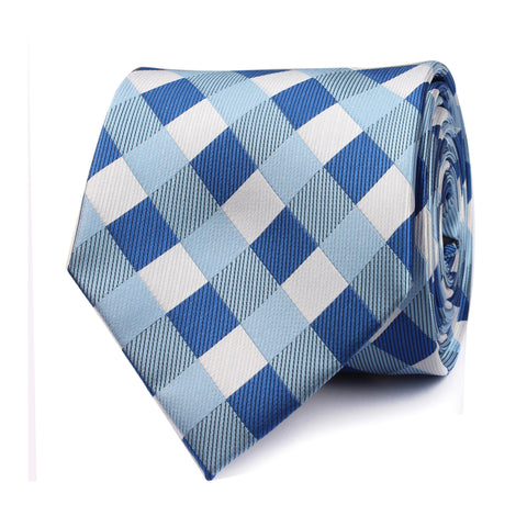 Blue Checkered Tie