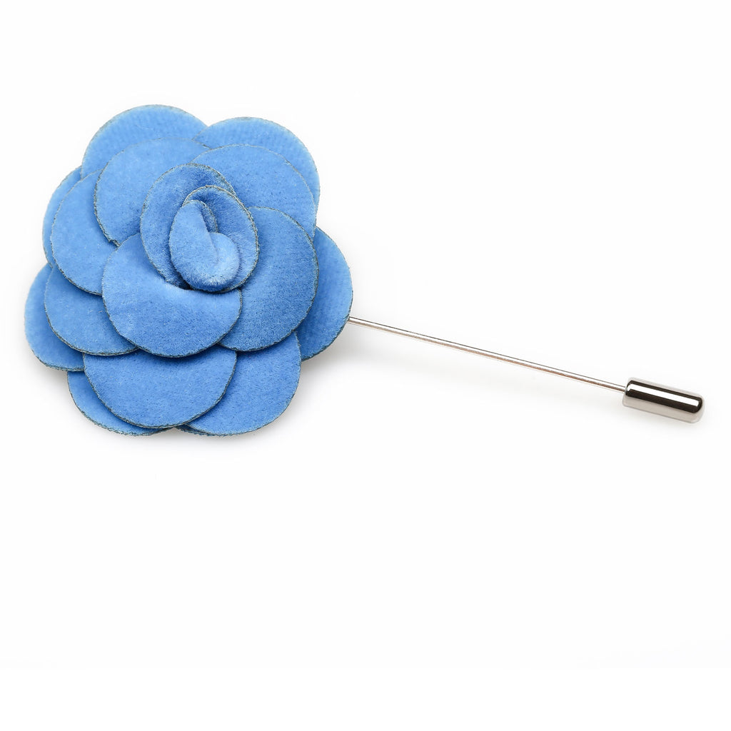 Blue Cornflower Velvet Lapel Flower