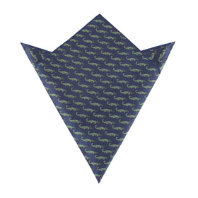 Blue Crocodile Dundee Pocket Square