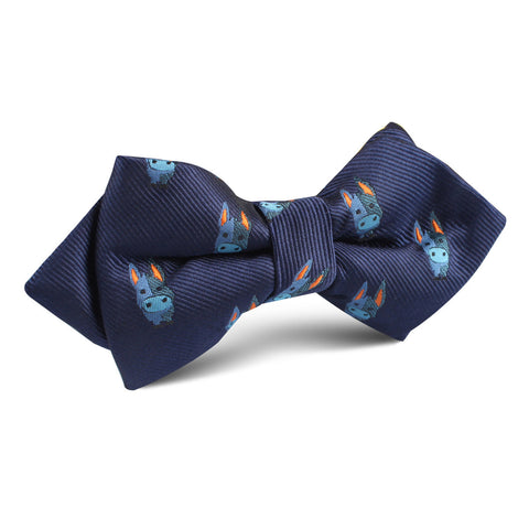 Blue Donkey Diamond Bow Tie