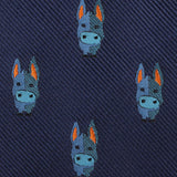 Blue Donkey Fabric Mens Diamond Bowtie