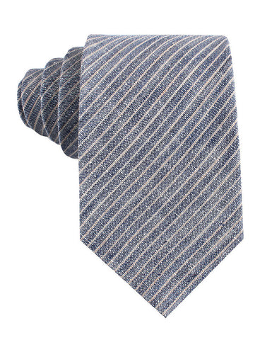 Blue Dry Cold Linen Pinstripe Tie