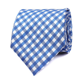 Blue Gingham Necktie