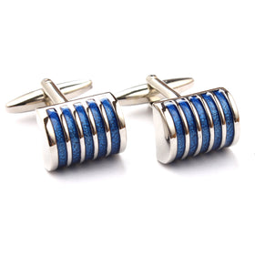 Blue Horizontal Cufflinks