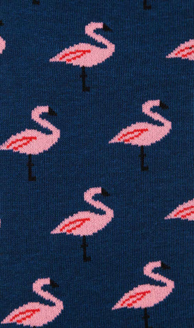 Blue Island Flamingo Socks