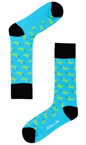 Blue Island Gummy Snake Socks