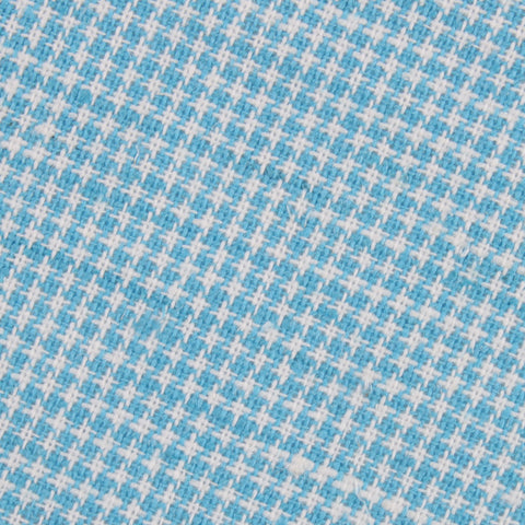 Blue Joy Houndstooth Linen Diamond Bow Tie