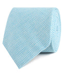Blue Joy Houndstooth Linen Necktie