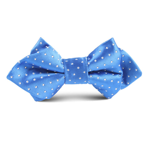 Blue Mini Polkadot Kids Diamond Bow Tie