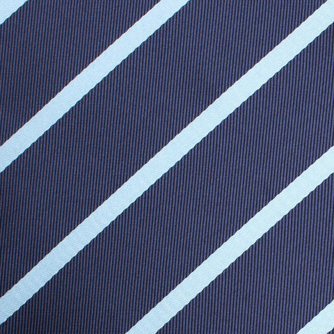 Blue Pencil Stripe Diamond Bow Tie