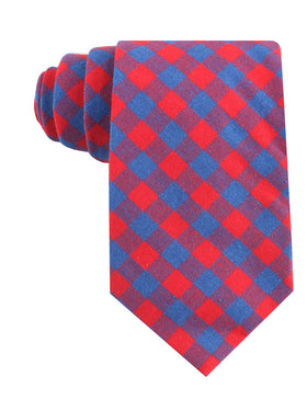 Blue & Red Gingham Tie