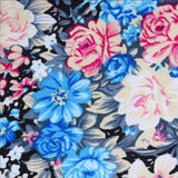 Blue Water Lilies Floral Fabric Pocket Square