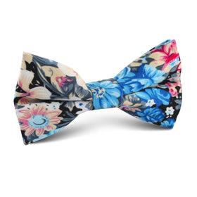 Blue Water Lilies Floral Kids Bow Tie