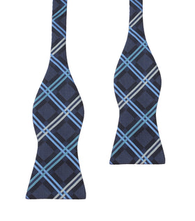 Blue X - Bow Tie (Untied)