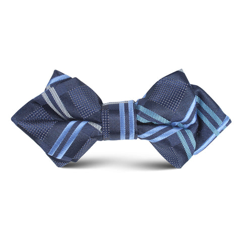Blue X Kids Diamond Bow Tie
