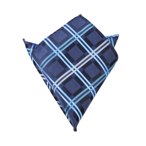 Blue X - Pocket Square