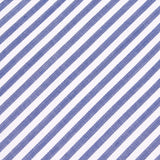 Blue and White Chalk Stripes Cotton Fabric Pocket Square C004