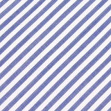Blue and White Chalk Stripes Cotton Skinny Tie Fabric