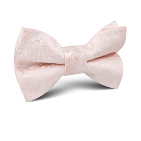 Blush Pink Daisy Flowers Floral Kids Bow Tie