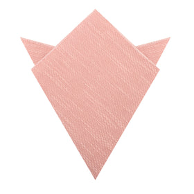 Blush Flamingo Pink Linen Pocket Square