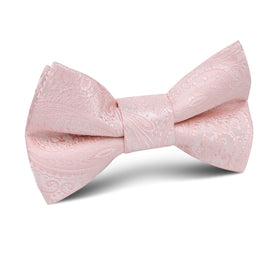 Blush Peach Paisley Kids Bow Tie