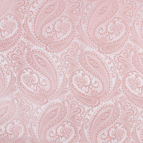 Blush Peach Paisley Pocket Square