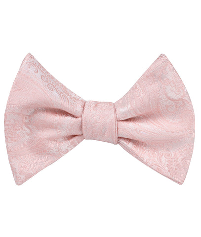 Blush Peach Paisley Self Bow Tie