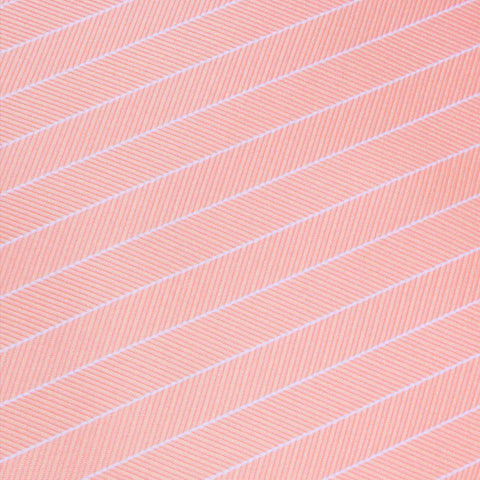 Blush Pink Herringbone Pinstripe Pocket Square