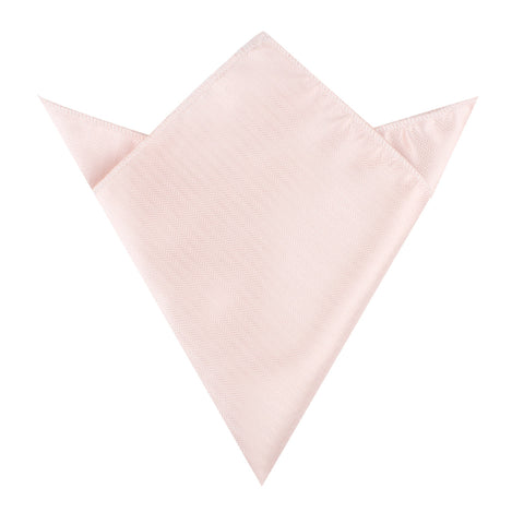 Blush Pink Herringbone Pocket Square