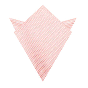 Blush Pink Houndstooth Pocket Square
