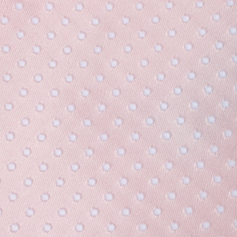 Blush Pink Mini Polka Dots Bow Tie