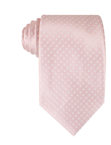 Blush Pink Mini Polka Dots Necktie