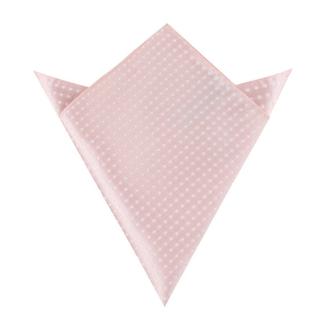Blush Pink Mini Polka Dots Pocket Square