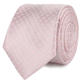 Blush Pink Mini Polka Dots Skinny Tie