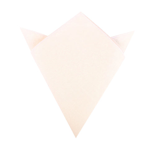 Blush Pink Slub Linen Pocket Square