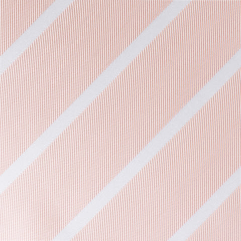Blush Pink Striped Bow Tie