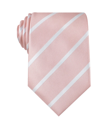 Blush Pink Striped Necktie