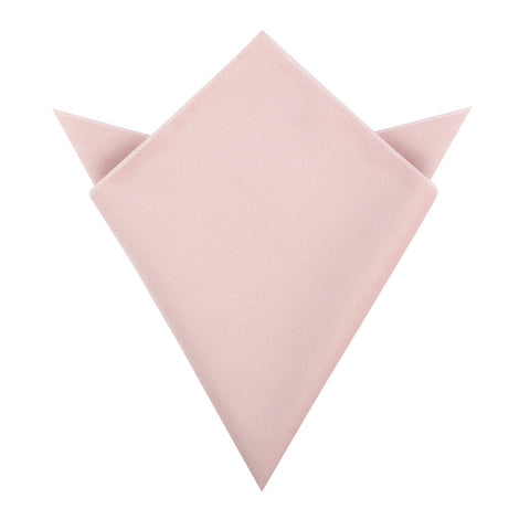 Blush Pink Velvet Pocket Square