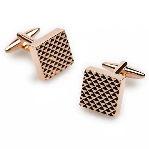 Bob Baffert Rose Gold Cufflinks