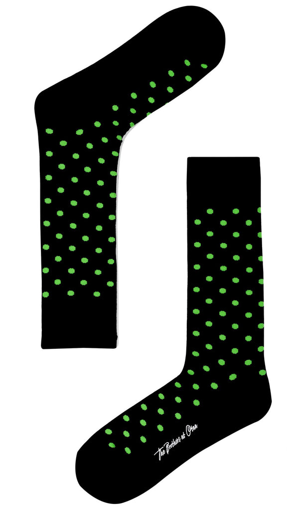Bond Black Green Dot Socks